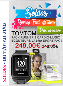 TomTom Pack Runner 2 Cardio-Music - Ecouteurs Jabra Sport Pace