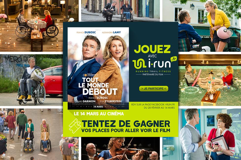 gagner des places pour aller voir le film tout le monde debout avec i-run.fr