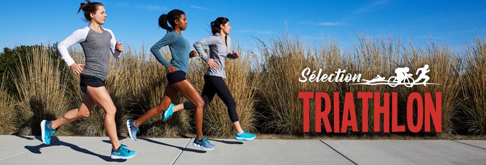 Sélection de chaussures, vêtements, d'électro et d'accessoires pour le triathlon