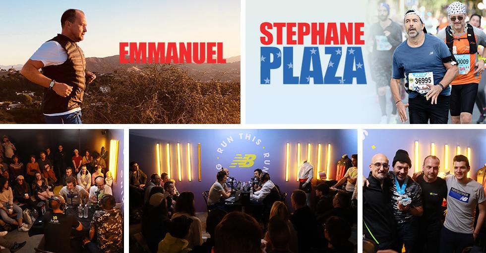 marathon new york stephane plaza et emmanuel d´i-Run