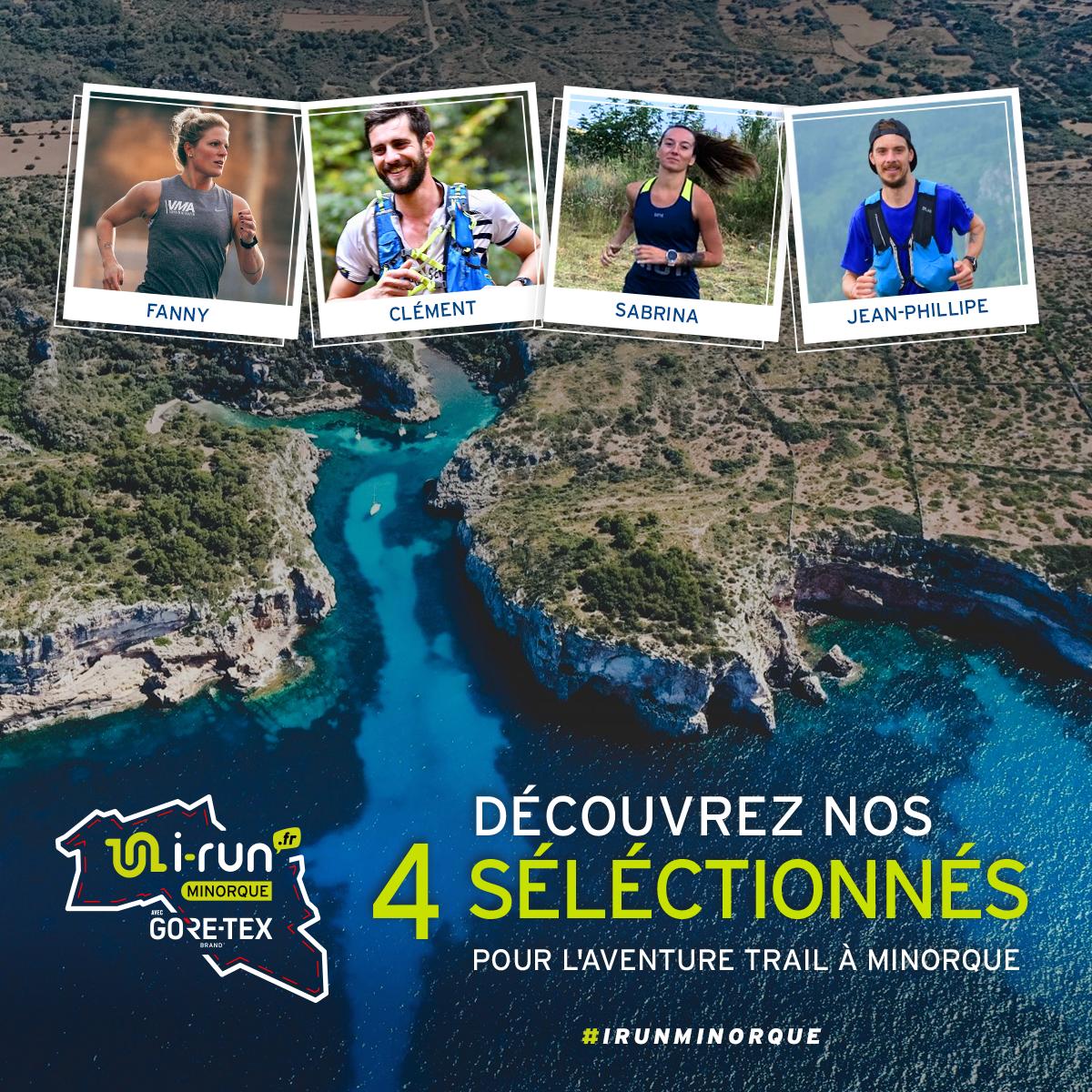 Les 4 sélectionnés pour l´aventure trail à Minorque