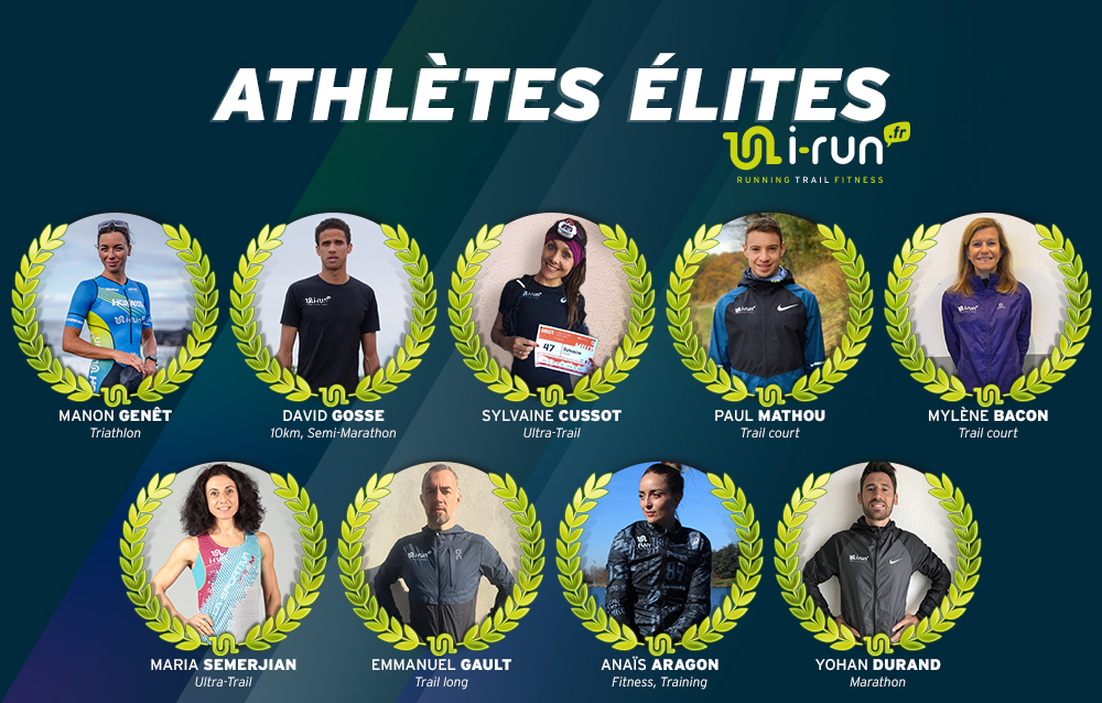 découvrez les équipements des athlètes élites i-Run