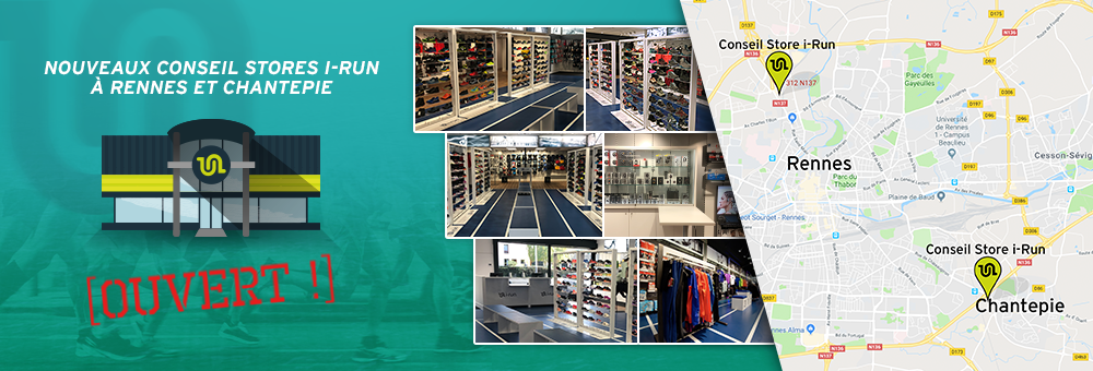 venez découvrir votre nouveau conseil store i-Run à Rennes et Chantepie