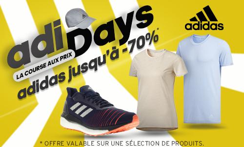 ADIDAYS : chaussures et vêtements adidas en promotion