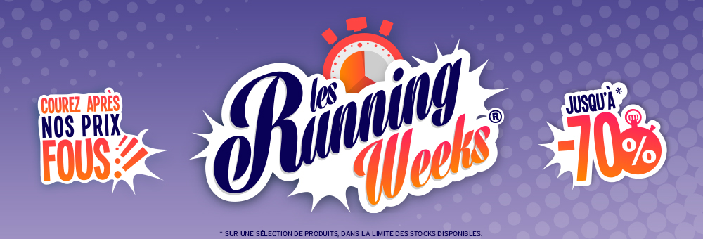 Running Weeks running jusqu´à -70% sur une sélection de produits