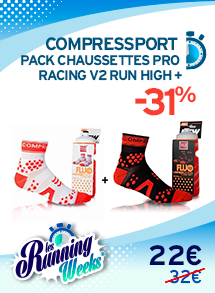 Compressport Pack Chaussettes Pro Racing V2 Run High +  RW