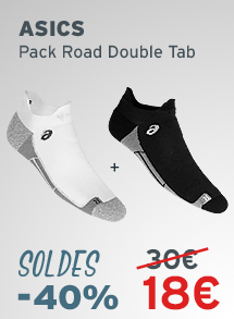 ASICS CHAUSSETTES PACK ROAD DOUBLE TAB