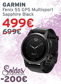 Garmin Fenix 5S GPS multisport sapphire black soldes