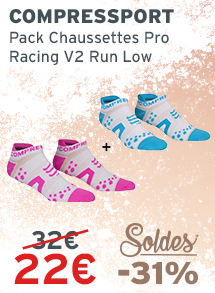 Soldes ompressport Pack Chaussettes Pro Racing V2 Run Low
