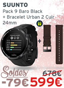 Soldes Suunto Pack 9 Baro Black + Bracelet Urban 2 Cuir