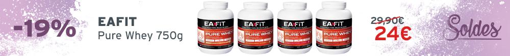 EAFIT Pure Whey 750g soldes