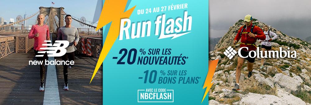 ventes flash New Balance & Columbia