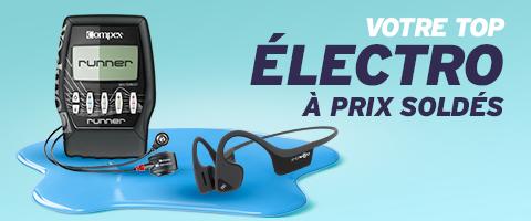 écouteurs et casques audio, électrostimulation, ... le meilleur de l´électro en promotion