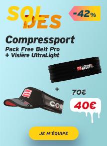 Compressport Pack Free Belt Pro + Visière UltraLight