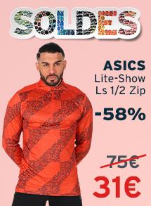 Soldes asics lite-show ls 1/2 zip