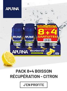 Apurna pack 8+4 boisson récuperation citron