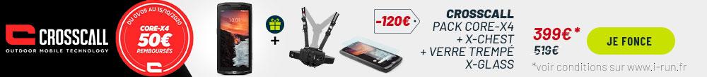 Crosscall pack trekker-X4 + 3 accessoires offerts
