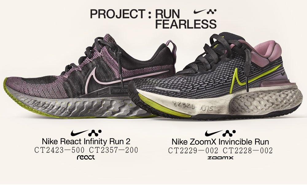 Run Fearless : acheter les nike react infinity run 2 et les nike zoomx invincible run