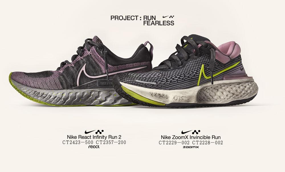 Run Fearless : acheter les nike react infinity run 2 et les nike zoomx invincible run