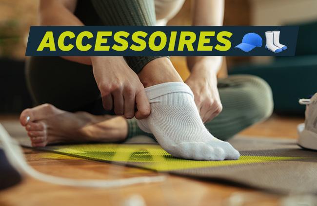 chaussettes, gourdes, sacs de sport, tous les accessoires pas cher pour se remettre au sport