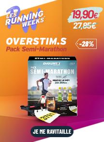Overstims pack semi marathon