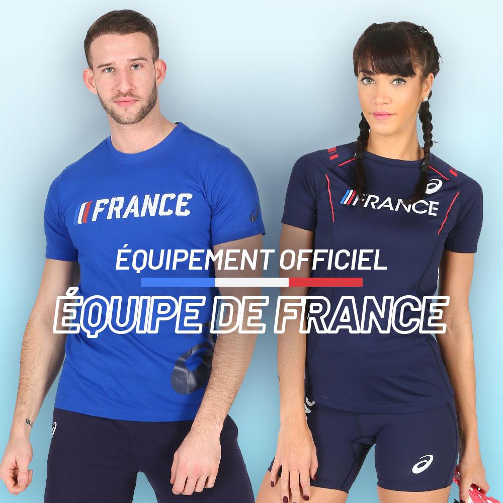 équipement officiel FFA équipe de france en promo