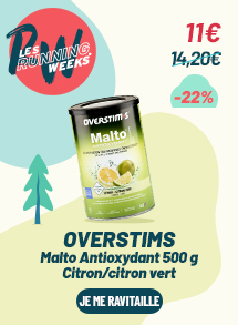 OVERSTIMS Malto Antioxydant 500g Citron/Citron vert