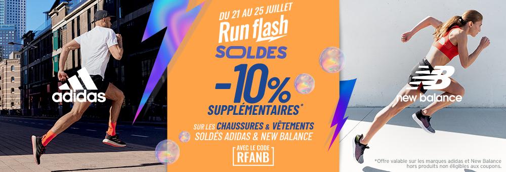 ventes flash équipement adidas et New Balance