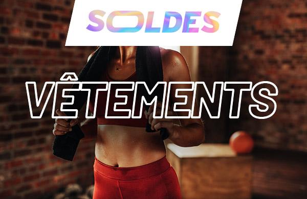 vêtement de fitness training en soldes pour homme et femme