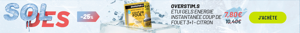 Overstims Étui Gels Endurance Energix liquide 3+1 citron