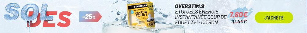 Overstims Étui Gels Endurance Energix liquide 3+1 citron