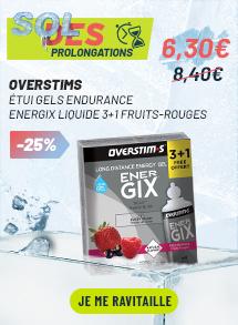 OVERSTIMS Étui Gels Endurance Energix Liquide 3+1 - Fruits rouge
