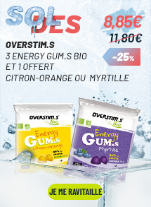 Overstim.s 3 energy gum.s bio et 1 offert