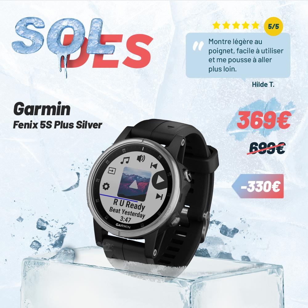 Garmin Fenix 5S Plus Silver