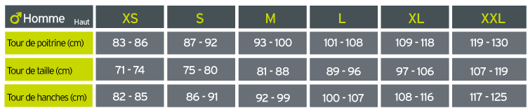 Guide des tailles adidas Marathon 3-Stripes Primegreen M