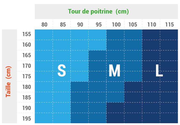 Guide des tailles Oxsitis Ace 16 M